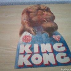 Flyers Publicitaires de films Anciens: ANTIGUO Y RARÍSIMO PROGRAMA DE CINE TROQUELADO. KING KONG. AÑOS 30. Lote 221784200