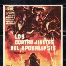 Cine: PROGRAMA DE CINE LOS CUATRO JINETES DEL APOCALIPSIS. GLEM FORD / INGRID THULIN. Lote 221801250