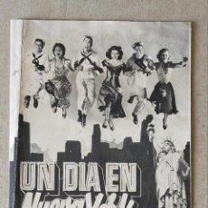 Cine: PROGRAMA DE CINE: UN DÍA EN NUEVA YORK. GENE KELLY, FRANK SINATRA - DOBLE SIN PUBLICIDAD. Lote 221812437