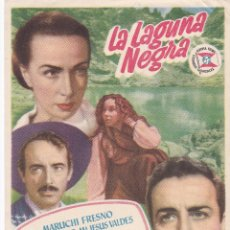 Cine: PROGRAMA: LA LAGUNA NEGRA. PUBLICIDAD CINE LUIÑAS SOTO DE LUIÑAS ASTURIAS. Lote 221820478