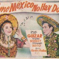 Cine: PROGRAMA: COMO MEXICO NO HAY DOS. PUBLICIDAD TEATRO CASINO NAVIA ASTURIAS. AÑO 1948. Lote 221820813