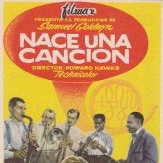 Cine: PROGRAMA: NACE UNA CANCION. PUBLICIDAD CAMPOS ELISEOS GIJON ASTURIAS. Lote 221821451