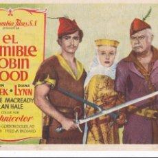Cine: PROGRAMA: EL TERRIBLE ROBIN HOOD. PUBLICIDAD CINE CAMPOS ELISEOS GIJON ASTURIAS. Lote 221824757