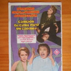 Cine: CANCION DE CUNA PARA UN CADAVER - FOLLETO DE MANO - BETTE DAVIS (7C). Lote 221824780
