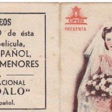 Cine: PROGRAMA DOBLE: BODA SOSEGADA. PUBLICIDAD CINE CAMPOS ELISEOS GIJON ASTURIAS. Lote 221826556
