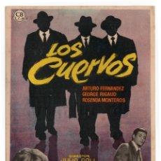 Cine: FOLLETO DE MANO - LOS CUERVOS - ARTURO FERNANDEZ - CINE TARRAGONA -TGNA - AÑO 1961. Lote 221890971