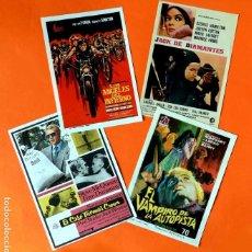 Cine: FOLLETO CARTEL DE MANO DE CINE - LOTE DE 4 CARTELES ANTIGUOS - ORIGINALES - AÑOS 50-60 -. Lote 221903693
