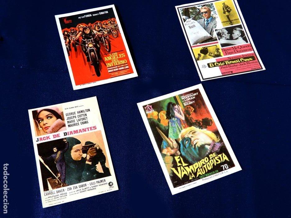 Cine: FOLLETO CARTEL DE MANO DE CINE - LOTE DE 4 CARTELES ANTIGUOS - ORIGINALES - AÑOS 50-60 - - Foto 2 - 221903693
