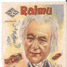 Cine: PROGRAMA CINE. RAIMU. EL MISTERIO DEL AUTOMÓVIL. 19-1081. Lote 221918770