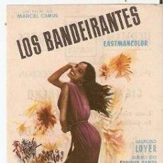 Cine: PROGRAMA CINE. LOS BANDEIRANTES. 19-1084. Lote 221919257