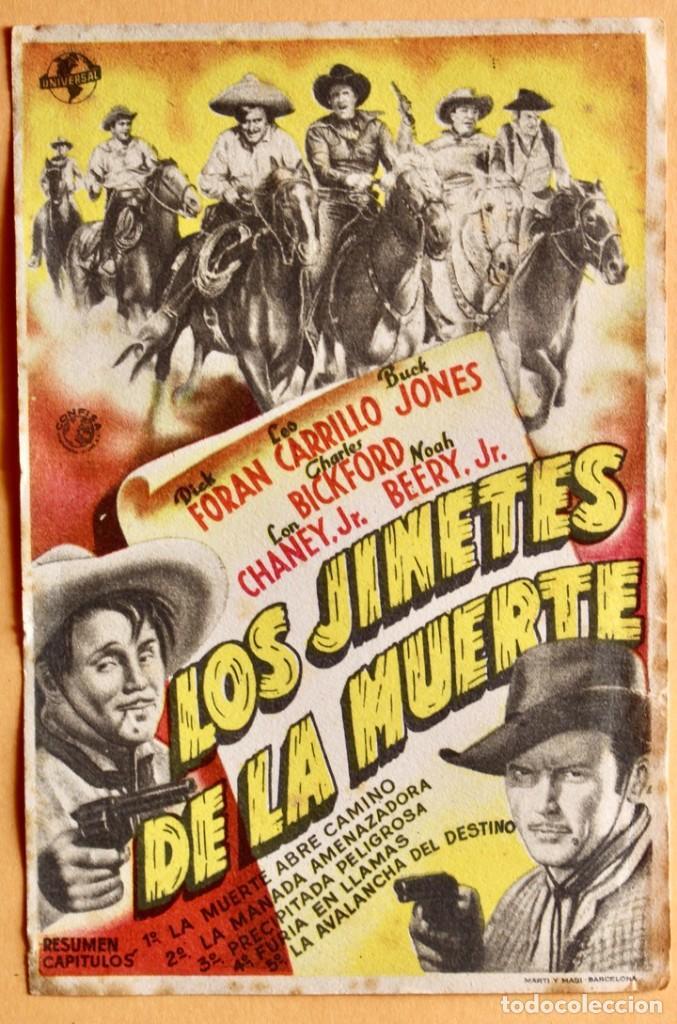 LOS JINETES DE LA MUERTE - DICK FORAN, LEO CARRILLO (Cine - Folletos de Mano - Westerns)