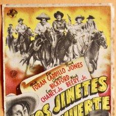 Cine: LOS JINETES DE LA MUERTE - DICK FORAN, LEO CARRILLO. Lote 221923125