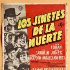 Cine: LOS JINETES DE LA MUERTE - DICK FORAN, LEO CARRILLO. Lote 221923306