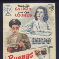 Cine: P-1823- BUENAS NOTICIAS (MARÍA LUZ GALICIA - JOSÉ LUIS OZORES - JUAN CALVO - MANUEL ARBÓ). Lote 221945547