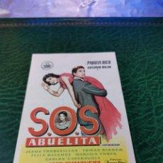 Cine: PROGRAMA DE MANO ORIG - SOS ABUELITA- CON CINE DE ZARAGOZA IMPRESO DORSO. Lote 221957133