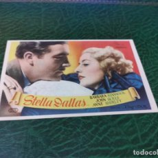 Folhetos de mão de filmes antigos de cinema: PROGRAMA DE MANO ORIG - STELLA DALLAS - CON CINE DE ALMENDRALEJO IMPRESO DORSO. Lote 221957828