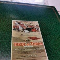 Cine: PROGRAMA DE MANO ORIG - TARDE DE TOROS - CON CINE IMPRESO DORSO. Lote 221985452