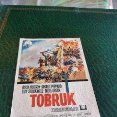 Cine: PROGRAMA DE MANO ORIG - TOBRUK - SIN CINE IMPRESO DORSO. Lote 222017441