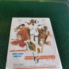 Cine: PROGRAMA DE MANO ORIG - TODOS LOS HERMANOS ERAN AGENTES - SIN CINE IMPRESO DORSO. Lote 222017676