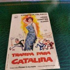 Cine: PROGRAMA DE MANO ORIG - TRAMPA PARA CATALINA - SIN CINE IMPRESO DORSO. Lote 222050092