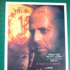 Cine: 12 MONOS - BRUCE WILLIS - BRAD PITT - MADELEINE STOWE. Lote 222074606