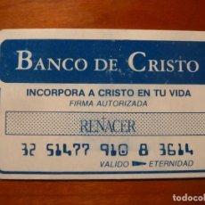 Cine: RENACER REBORN BIGAS LUNA FOLLETO DE MANO ORIGINAL EN FORMATO TARJETA DE CREDITO RARO. Lote 222084130