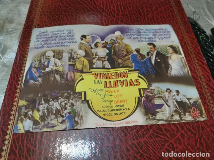 Cine: PROGRAMA DE MANO ORIG DOBLE - VINIERON LAS LLUVIAS - CON CINE DE MASNOU IMPRESO AL DORSO - Foto 2 - 222113487