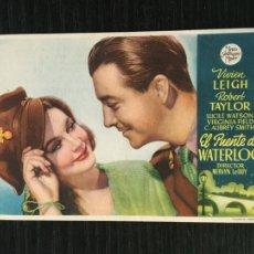 Cine: EL PUENTE DE WATERLOO - PROGRAMA DE CINE - C/P SANTA COLOMA 1944. Lote 222154067