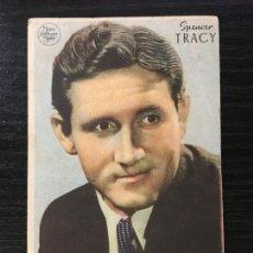 Flyers Publicitaires de films Anciens: HOLLYWOOD CONQUISTADO - SPENCER TRACY - PROGRAMA DE CINE C/P BADALONA 1943. Lote 222156187
