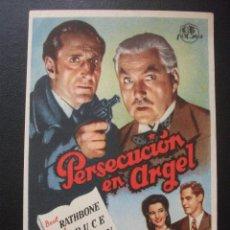 Cine: PERSECUCIÓN EN ARGEL, BASIL RATHBONE. Lote 222191733