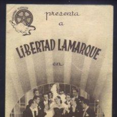 Cine: P-8951- CAMINITO DE GLORIA (DOBLE) (SALON GRAN VIA - GERONA) LIBERTAD LAMARQUE - ROBERTO AIRALDI. Lote 222194972