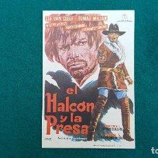 Cine: PROGRAMA DE MANO CINE EL HALCON Y LA PRESA (1966) CON CINE AL DORSO. Lote 222216106