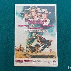Cine: PROGRAMA DE MANO CINE HASTA QUE LLEGO SU HORA (1970) CON CINE AL DORSO. Lote 222240476