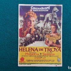 Cine: PROGRAMA DE MANO CINE HELENA DE TROYA (1960) CON CINE AL DORSO. Lote 222244630