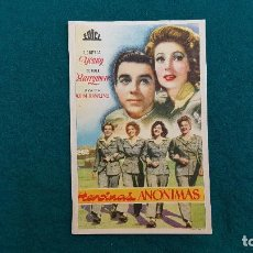 Cine: PROGRAMA DE MANO CINE HEROINAS ANONIMAS (1946) CON CINE AL DORSO. Lote 222249087