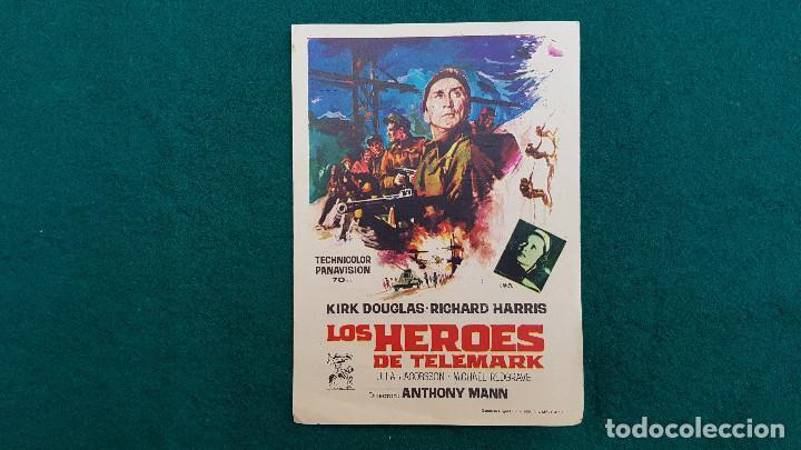 PROGRAMA DE MANO CINE LOS HEROES DEL TELEMARK (1967) CON CINE AL DORSO (Cine - Folletos de Mano - Bélicas)