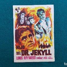 Cine: PROGRAMA DE MANO CINE EL HIJO DEL DR. JEKYLL (1945) CON CINE AL DORSO. Lote 222250903