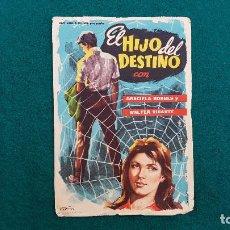 Cine: PROGRAMA DE MANO CINE EL HIJO DEL DESTINO (1962) CON CINE AL DORSO. Lote 222251111