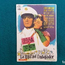 Cine: PROGRAMA DE MANO CINE LA HIJA DEL EMBAJADOR (1957) CON CINE AL DORSO. Lote 222256601