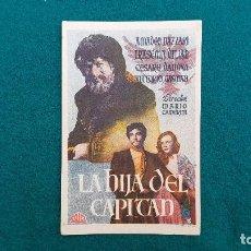 Cine: PROGRAMA DE MANO CINE LA HIJA DEL CAPITAN (1949) CON CINE AL DORSO. Lote 222256702