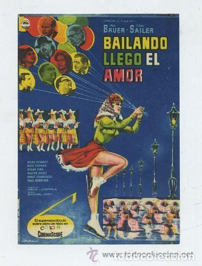 BAILANDO LLEGO EL AMOR (Cine - Folletos de Mano - Musicales)