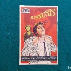 Cine: PROGRAMA DE MANO CINE HIPNOSIS (1962) CON CINE AL DORSO. Lote 222265235
