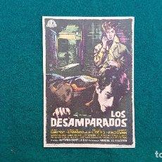 Cine: PROGRAMA DE MANO CINE LOS DESAMPARADOS (1960) CON CINE AL DORSO. Lote 222271018
