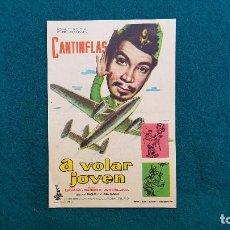 Cine: PROGRAMA DE MANO CINE A VOLAR JOVEN (1961) CON CINE AL DORSO. Lote 222272251