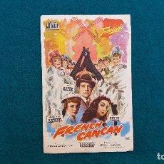 Cine: PROGRAMA DE MANO CINE FRENCH CANCAN (1963) CON CINE AL DORSO. Lote 222274806