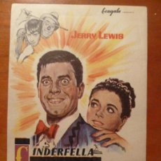 Cine: CINDERFELLA CENICIENTO JERRY LEWIS FOLLETO DE MANO ORIGINAL PERFECTO ESTADO. Lote 222282361