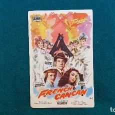 Cine: PROGRAMA DE MANO CINE FRENCH CANCAN (1963) CON CINE AL DORSO. Lote 222282757