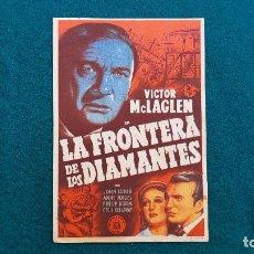Cine: PROGRAMA DE MANO CINE LA FRONTERA DE LOS DIAMANTES (1947) CON CINE AL DORSO. Lote 222283941