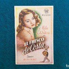 Cine: PROGRAMA DE MANO CINE EL FRESCO DE COSTA (1945) CON CINE AL DORSO. Lote 222284680