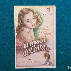 Cine: PROGRAMA DE MANO CINE EL FRESCO DE COSTA (1946) CON CINE AL DORSO. Lote 222284723